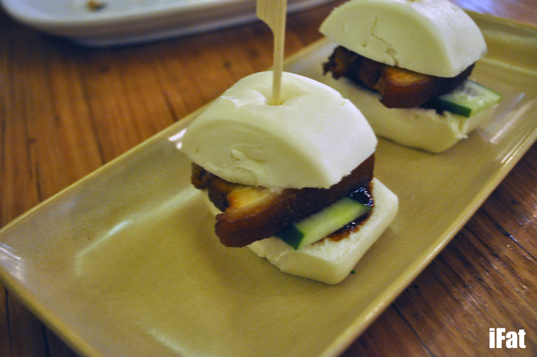 Pork buns at Chi & Co, Fairfield