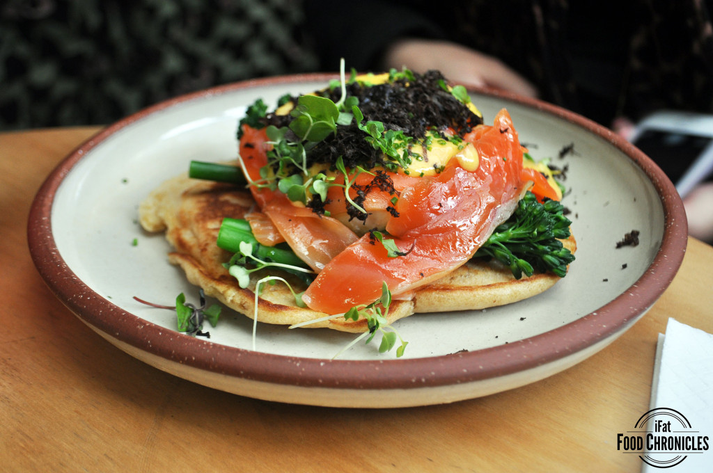 Eggs Blini at Devon Cafe, Surry Hills