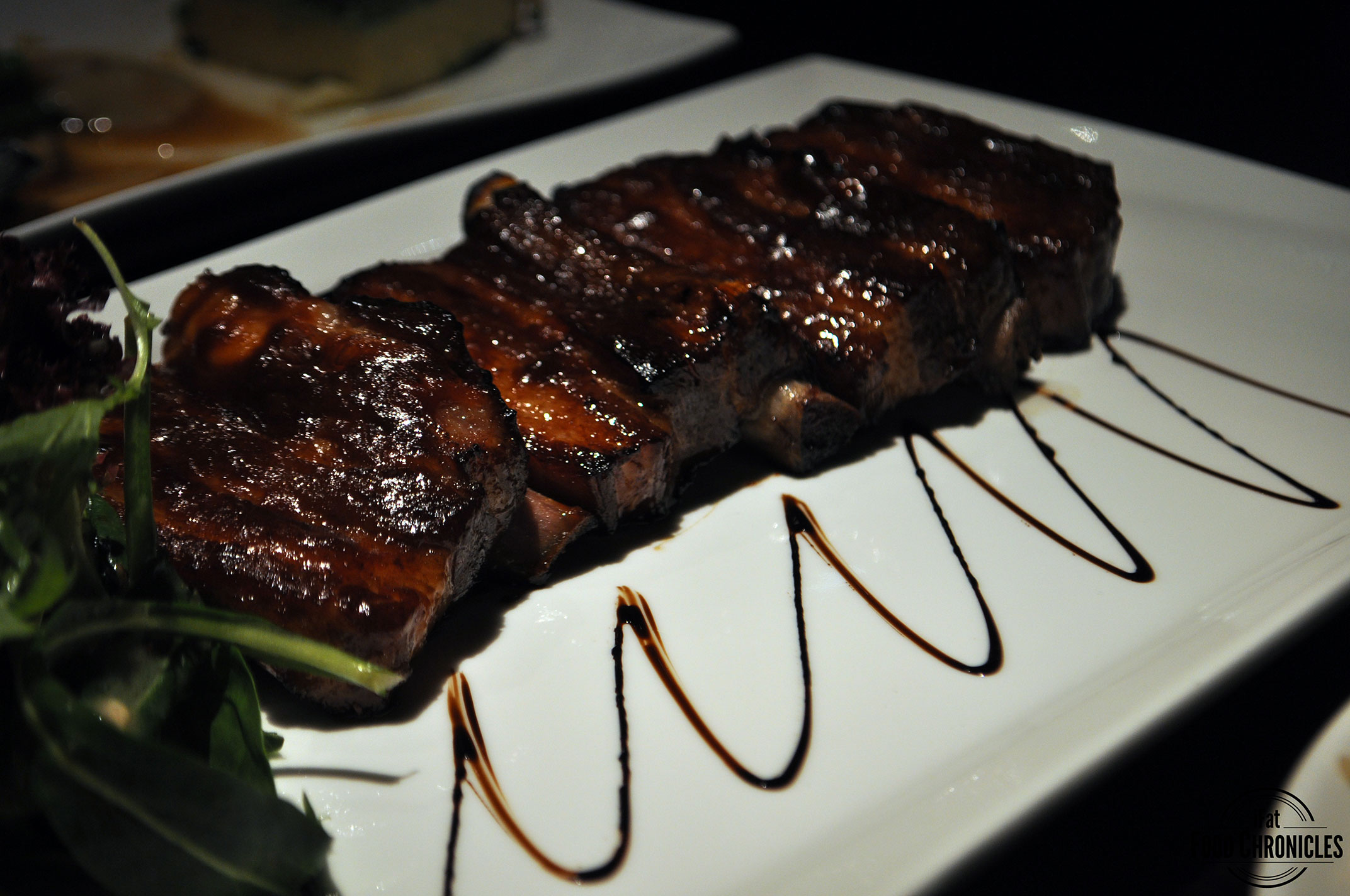 Honey glazed spare ribs at Waitan, CBD